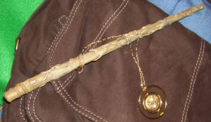 time turner + wand by cuetherevolution