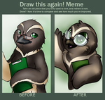 Draw this again meme by Pingwinowa