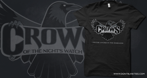 T-Shirt: Night's Watch Crows by dontblinktees