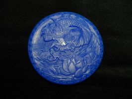 Lotus And Dragon, in wax by Cloud-Dragonz