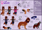 Main Fursona: Zoe Ref. Sheet .:2014:. by ScottishRedWolf