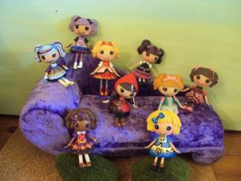 ever after high mini lalaloopsy dolls by Phoenixwingcreations