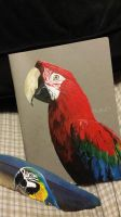 Some parrot paintings - fundraiser by Techta