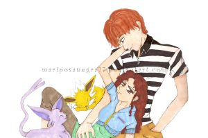 Us and Our Pokemon Forever by ChiisaiKabocha17