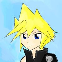 Cloud Strife by mickeythebluemagic