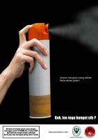 Mosquito-cigarette spray by Wijaya
