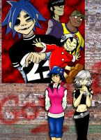 My Gorillaz Fancomics Cover by lady-storykeeper