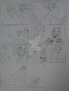 Aracnida and She-Black Spider teamup pg.3 wip by SpiderSilk15