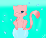 mew-bubbles by janethewolf12