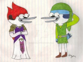 Mordecai and Princess Margaret by Fab-912