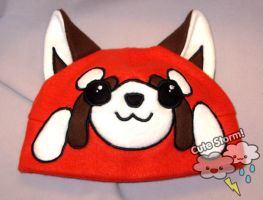 Red panda cap by The-Cute-Storm