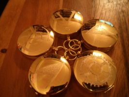 Engraved Compasses by LunaLockheart