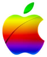 Colored Modern Apple Logo Vector by GreenMachine987