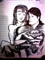Bruce and Diana. by darthsomeone