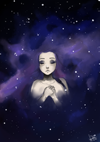 the galaxy in her mind by Stoffkamel