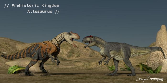 Allosaurus face off by c-compiler