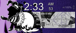 Monochrome Pinkie Pie Player/Clock for Rainmeter by LlodsliatLNS