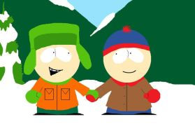 South Park Kyle and Stan by squeaken1
