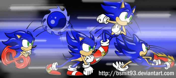 Sonic: Action Sequence by bsmit93