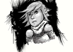 THE GIRL IN THE CAVES by arinfu