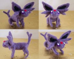 Espeon needle felt by Turtle-Duck