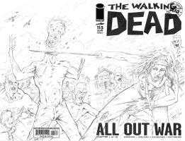 The Walking Dead #115 Sketch Cover with Michonne by bphudson