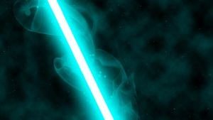 Teal Lightsaber by nerfAvari