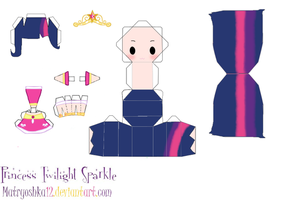 Princess Twilight Sparkle Papercraft by matryoshka12