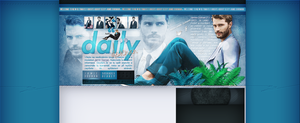 Ordered layout with Jamie  Dornan by redesignbea