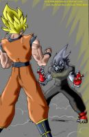 Super Saiyan versus The Hound Force by Hero-Jaxx