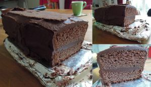 Chocolate Fudge Cake by NessaArnatulie
