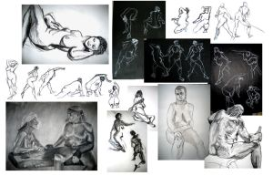 Life Drawing Collage 2 by travelingpantscg