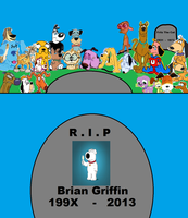R.I.P Brian Griffin by cartoonfanboyone