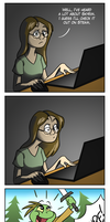 Discovering Skyrim by EarthGwee