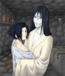 Orochimaru and Sasuke by hellena