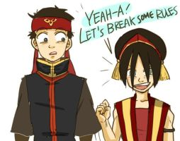 aang,toph_break some rules by psycheJ93