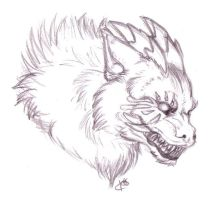Dragonwolf Sketch by Korrok