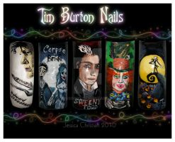 Tim Burton Nails by Jessi9999