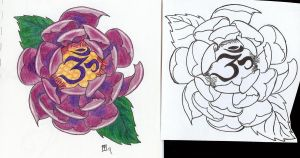Lotus Om Tattoo Design by moonraven373