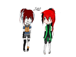 Sara~Chan and CHiyoko~Chan (: by CooterKillerSound