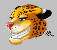 Leopard Head by suzidragonlady