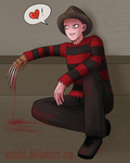 Freddy Krueger is Soo Happeh by xochibi