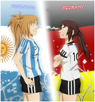 Argentina vs. Germany 2010 by NawaChan