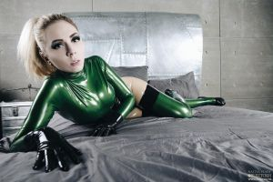 green and metal bed by LikeAbillion