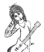 Nikki Sixx sketch by Beautiful-Fantasies