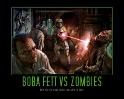 Boba Fett vs Zombies by Onikage108