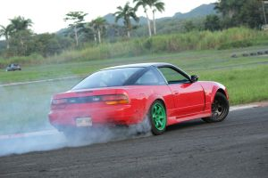 Drifting 240sx tire smoke by Caramanos2000