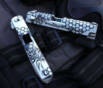 Airsoft Pistol Slide commission No.2 by dog-green-1