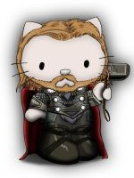 Avengers / Hello kitty deviation- THOR by Crow-Dreamer