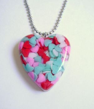 Hearts Valentine Pendant by evrythngsblue